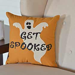 Get Spooked Ghost Decorative Pillow