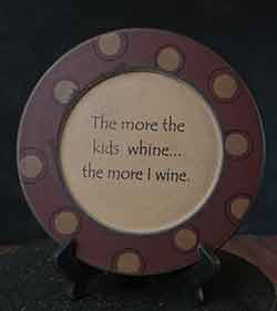 The More I Wine Plate