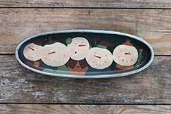 Snowmen Party Oval Tray
