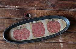 Whimsy Pumpkin Oval Tray