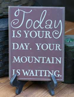 Mountain is Waiting Wall Plaque - Burgundy