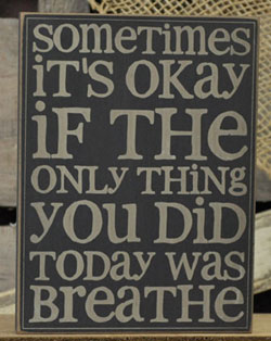 Breathe Wall Plaque - Black