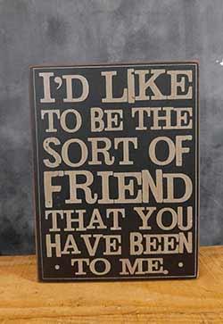 Like to be the Friend Wood Wall Decor (Black)