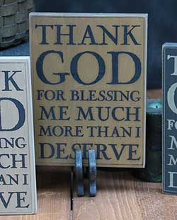 Thank God Wall Plaque - Tan