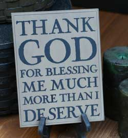 Thank God Wall Plaque - Oatmeal