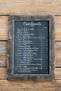 Punishments Blackboard Wall Decor