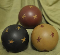 Decorative Balls with Stars (Set of 3)