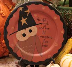 An Old Witch Plate