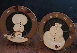 Tumbling Snowman Plate