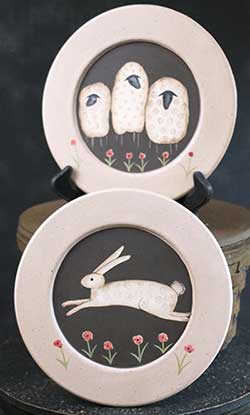 Bunny or Sheep Primitive Plate