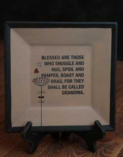 Grandma Square Plate