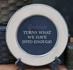 Gratitude Plate