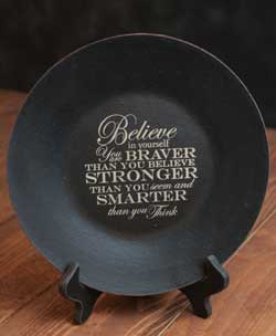 Stronger Than You Think Plate