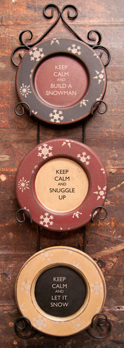 Keep Calm Winter Plates (Set of 3)