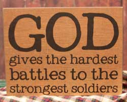 Soldiers Standing Box Sign