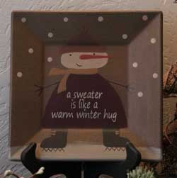 Winter Hug Square Plate