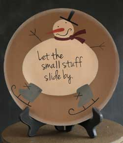 The Hearthside Collection Small Stuff Silly Snowman Plate
