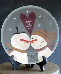 Snowman Love Plate - Above All
