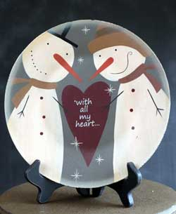 Snowman Love Plate - All My Heart