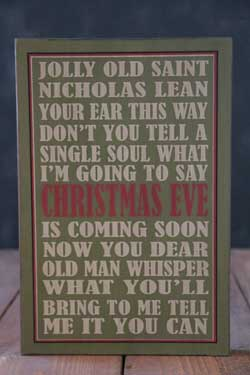 Jolly Old St Nick Box Sign - Green