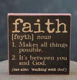 Faith Definition Sign