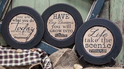 Dreams Distressed Plates (Set of 3)