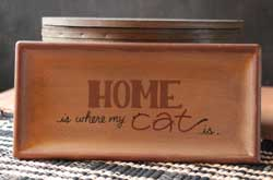 Home is Where My Cat Is Tray