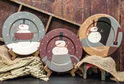 The Hearthside Collection Sneaky Snowman Plate