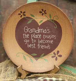 Cousins, Best Friends Plate
