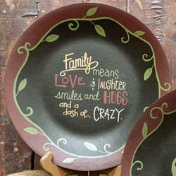 Family Is A Dash of Crazy Plate