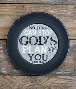 God's Plan For You Plate