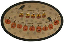 Happy Halloween Garland Tray