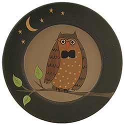 Owl, Moon, & Stars Primitive Plate