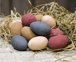 Primitive Wooden Eggs (Set of 12)
