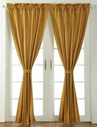 Pull String Curtain Rods Spring Green Sheer Curtains