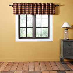Heritage Farms Primitive Check 90 inch Valance