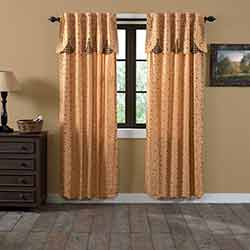 Maisie 84 inch Panel Curtain with Attached Layered Valance