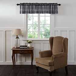 VHC Brands Annie Buffalo Black Check Valance (90 inch)