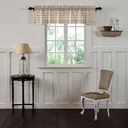 VHC Brands Annie Buffalo Tan Check Valance (60 inch)