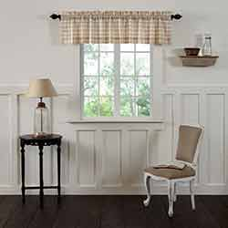 VHC Brands Annie Buffalo Tan Check Valance (72 inch)