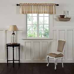 VHC Brands Annie Buffalo Tan Check Valance (90 inch)