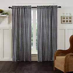 VHC Brands Annie Buffalo Black Check 84 inch Panels