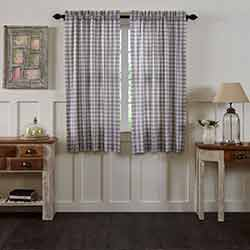 VHC Brands Annie Buffalo Grey Check 63 inch Panels