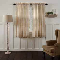 VHC Brands Annie Buffalo Tan Check 63 inch Panels