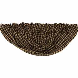 Black Check Balloon Valance (Black and Tan)