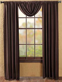 Burlap Brown Panels (84 inch)