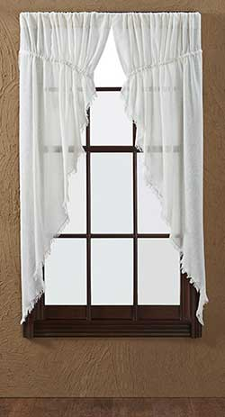 Tobacco Cloth Prairie Curtain - Antique White