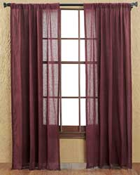 Tobacco Cloth Panels - Merlot