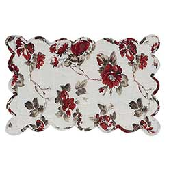 Mariell Red Floral Quilted Placemats (Set of 6)