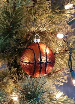 Glass Basketball Ornament